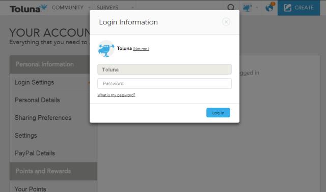 login info